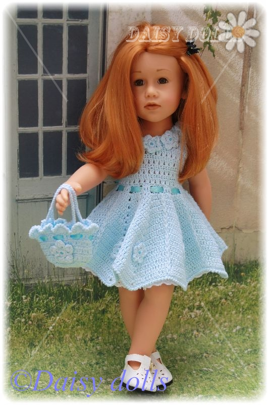 Кукольные платья крючком