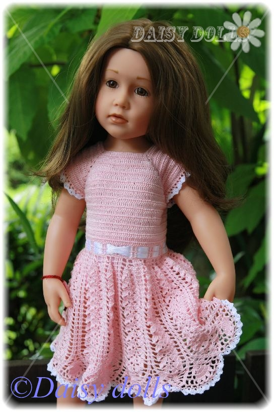 Ажурное платье для куклы Готц