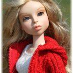 Leda's red hoodie