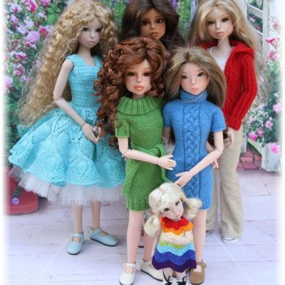 My family of Bo Bergemann dolls