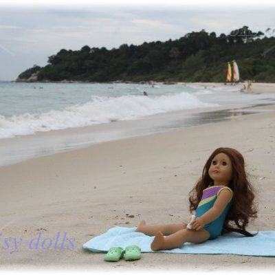 Saige on the beach (Indonesia)