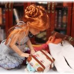 Anika packing for holidays