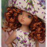 Lavender dress for Anika