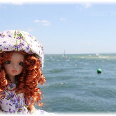 Anika on the English seaside