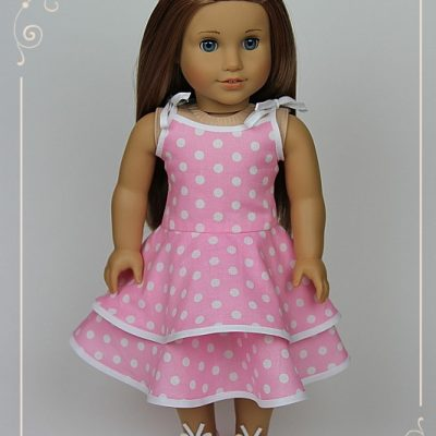 Pink Polka dot dress for McKenna