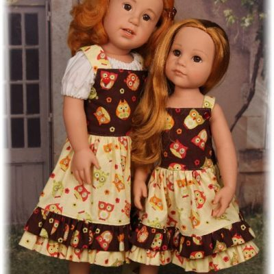 Owl dresses for Gotz dolls