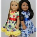 Butterfly dresses for American Girl dolls