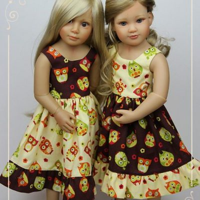 Owl dresses for Kidz'n'Cats dolls