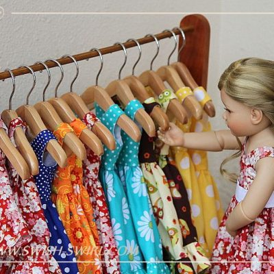 Rainbow of dresses
