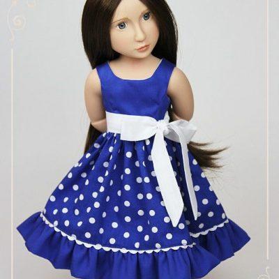 Blue dress for Matilda and Amelia