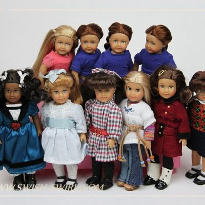 Bunch of mini AG dolls