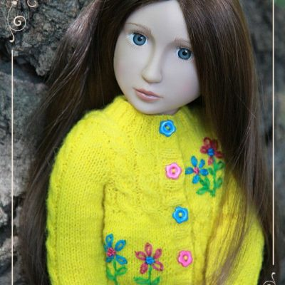 Yellow cardigan for Matilda
