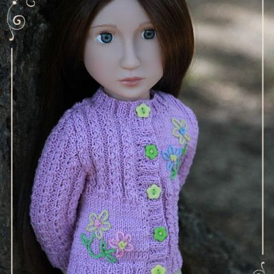 Lavender cardigan for Matilda