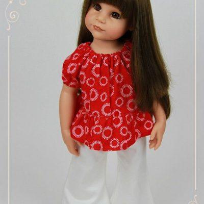 Caroline in red