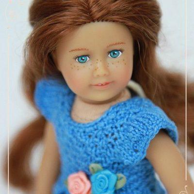 Синее платье для мини Сейдж