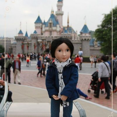 Lydia in Hong Kong. Disneyland