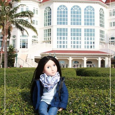 Lydia in Hong Kong. Disneyland Hotel