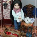 Lydia packing for a trip