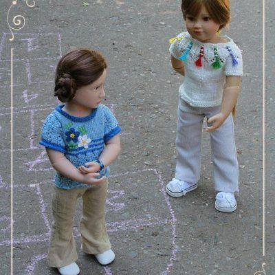 Тинка и Матти. Игра в классики