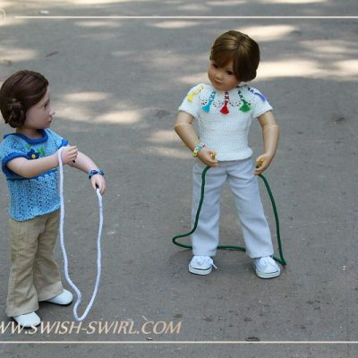 Tinka and Mattie. The skipping rope
