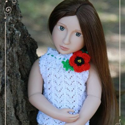 Mattie in a Poppy top