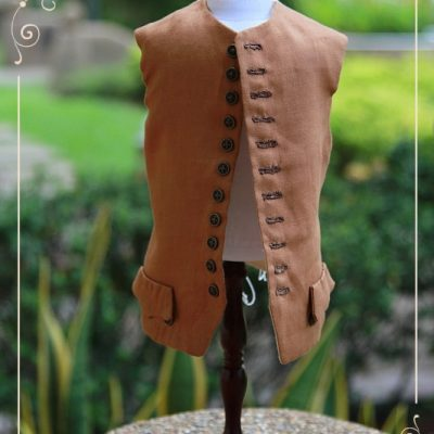 Outlander. Finished brown waistcoat for Jamie