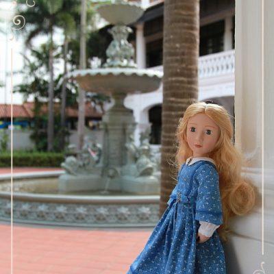 Eileen in Raffles Hotel