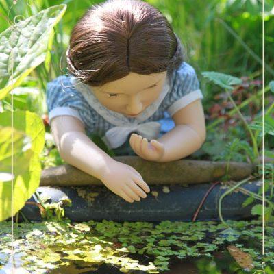 Mattie in a garden