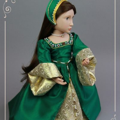 Emerald green Tudor dress