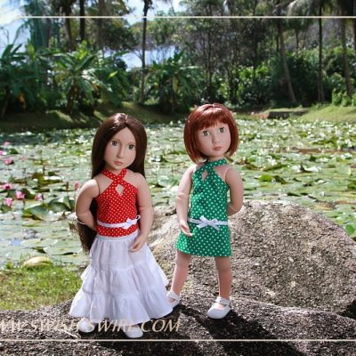 Matilda and Clem on Bintan Island. Part 5. Lily pond.