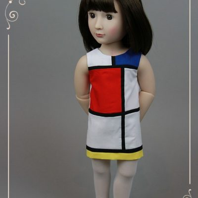 Mondrian dress for Sam