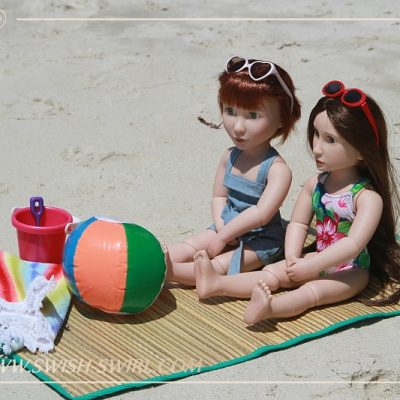 Matilda and Clem on Bintan Island. Part 3. On the beach.