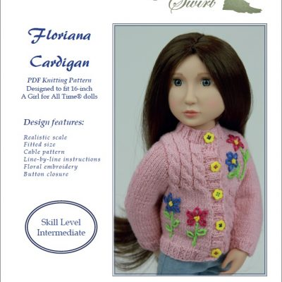Floriana Cardigan knitting pattern for AGAT dolls