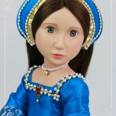 Бирюзовое тюдорское платье «Анна Болейн»