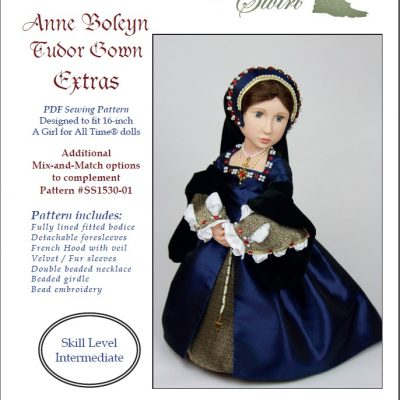 Anne Boleyn Tudor Gown EXTRAS pattern
