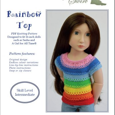 Rainbow Top knitting pattern for AGAT and Sasha dolls
