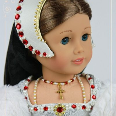 Catherine Howard Tudor gown for American Girl dolls