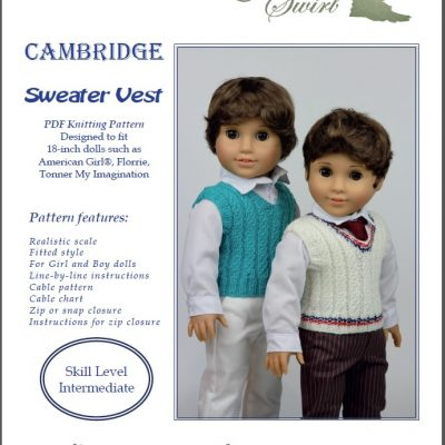 Cambridge Sweater Vest for AG dolls