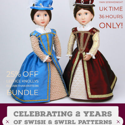 25% off. Lettice Knollys Elizabethan pattern for AGAT dolls